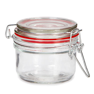 Darice Small Glass Jar with Locking Lid: 3 x 2.7 inches ()