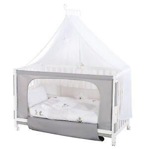 roba room bed kinderbett beistellbett fox bunny 60x120 cm wei lackiert neu. Black Bedroom Furniture Sets. Home Design Ideas