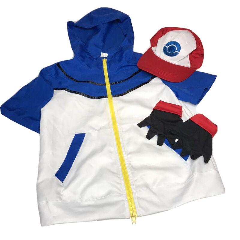 Ash Ketchum cosplay  Pokemon Pocket Monster BW- Halloween costume Kids Small-Med