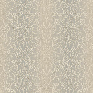 Galerie tx34823 Quality Textured Damask Gold/Brown Wallpaper