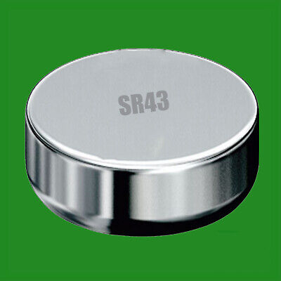 2x SR43 1.55V Silver Oxide Coin Button Cell Battery Watch - 1.55v Watch Replacement Battery