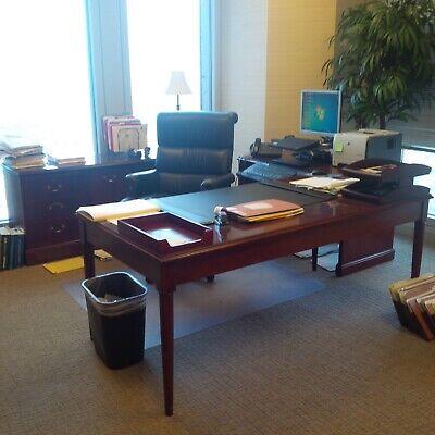Beautiful 7 Piece Executive Office Inwood Furniture Set - Cherry Wood.
