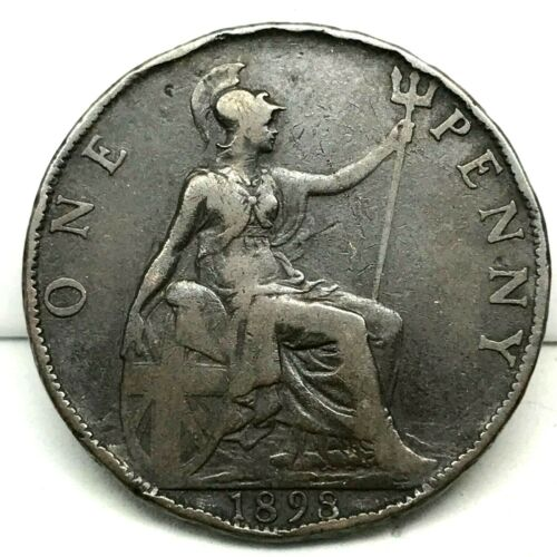 1898, GREAT BRITAIN, VICTORIA - ONE PENNY, BRONZE  COIN #2 - KM# 755
