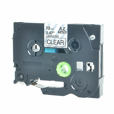1 Pk Black On Clear Label Tape For Brother Tz-131 Tze131 P-touch Pt-d210 12mm