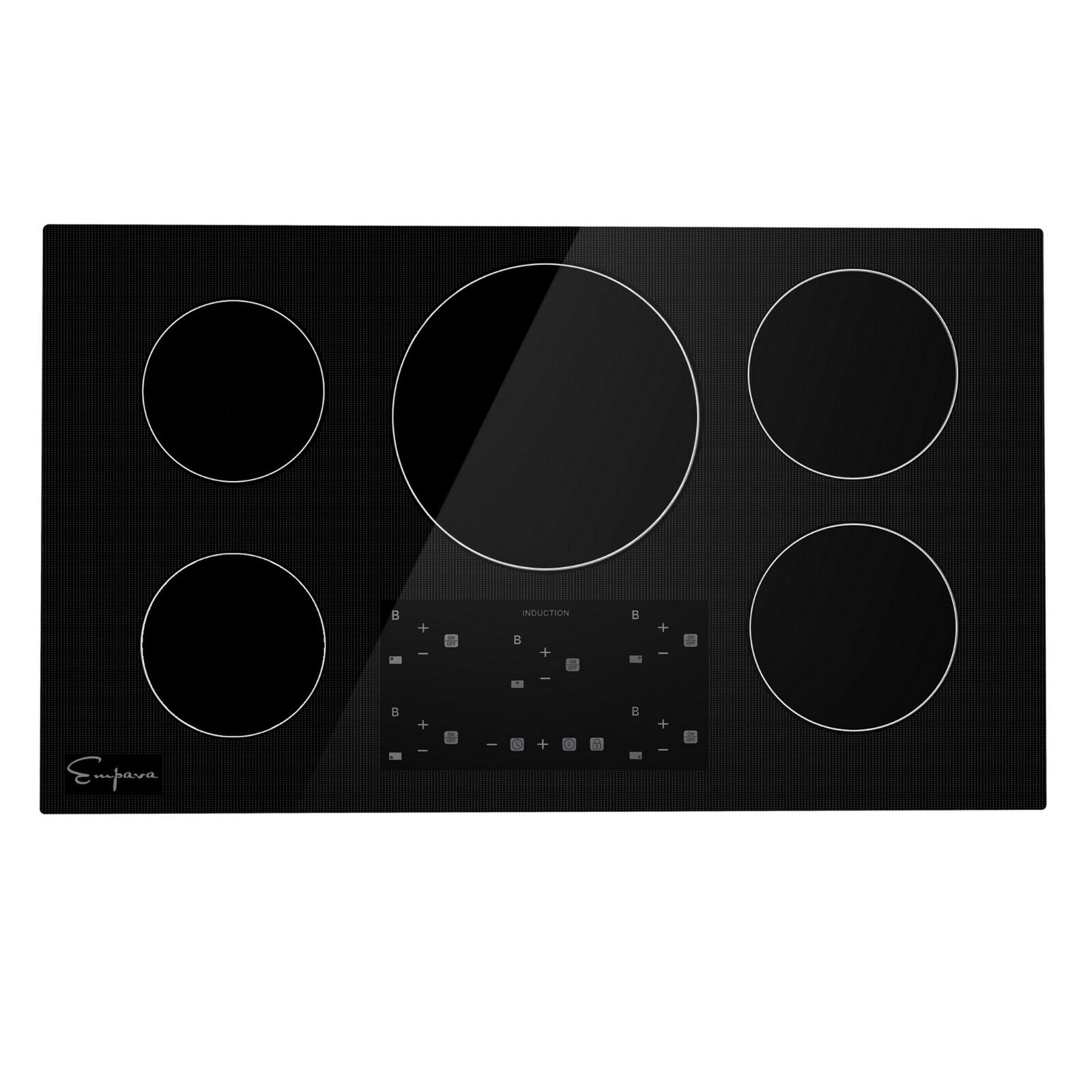 Empava 36 inch Electric Induction Cooktop Smooth Top 5 Boost