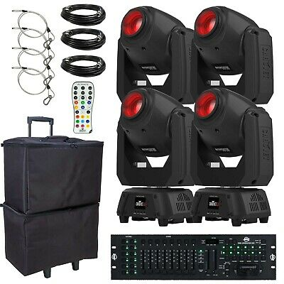 Chauvet DJ Intimidator Spot 260 LED DMX Moving Heads w Cases + Obey70 Controller