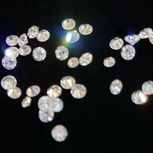 Natural Loose Small Round Diamonds, Color H-J, Clarity SI2 - I2, Sizes .8 - 2 mm