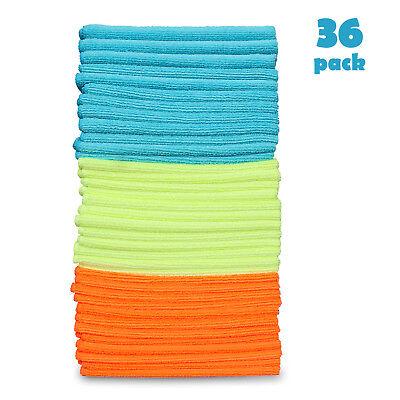 36 Pack Microfiber Cleaning Cloth No-Scratch Rag Car Polishing Detailing Towel