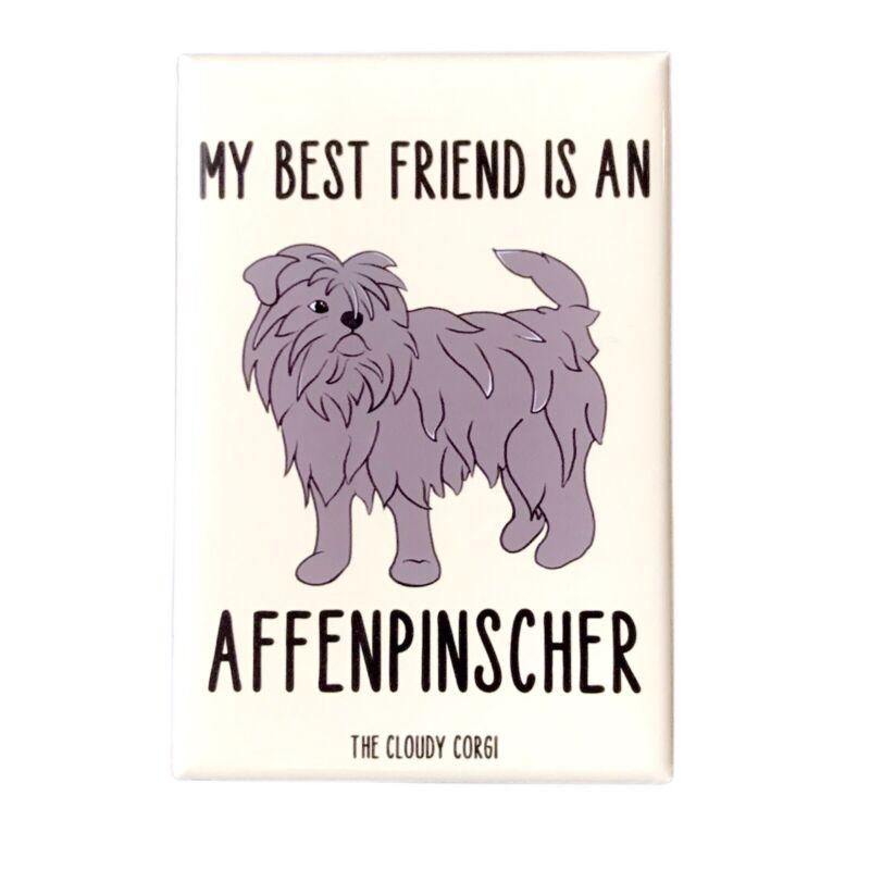 Affenpinscher Dog Magnet Handmade Best Friend Cartoon Art Gifts and Decor