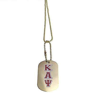 Kappa Alpha Psi Gold Dog Tag