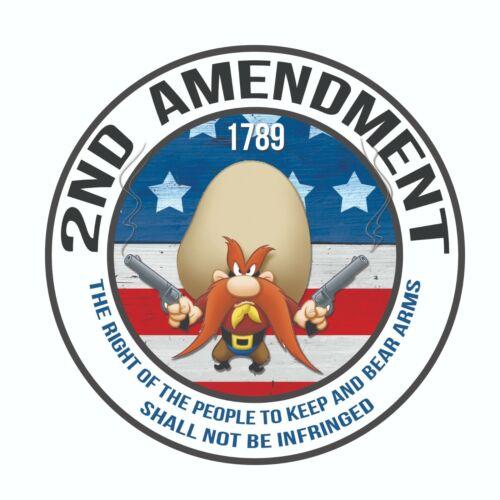 2nd Amendment  Government Gun Rights Decal Sticker  Yosemite Sam