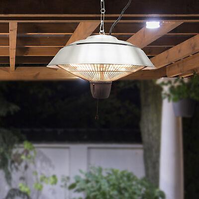 Outsunny Electric Patio Heater Ceiling Mounted Halogen 1500 Watt Outdoor Garden