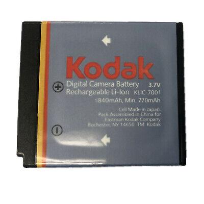 OEM Genuine Original Kodak KLIC-7001 K7001Digital Camera 840mAh 3.7V Battery New ()