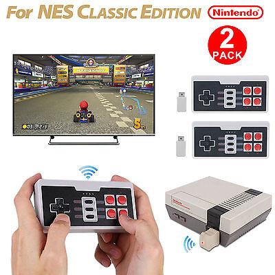 EEEKit 2 Packs Wireless Controller Gamepad for Nintendo NES Mini Classic Edition