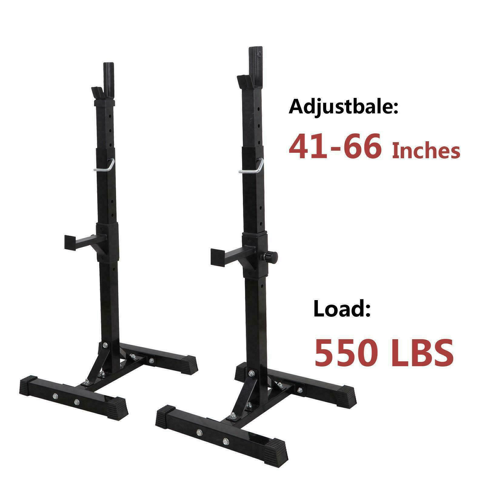Squat Rack Stand Workout GYM Power Rack Weight Lifting Home