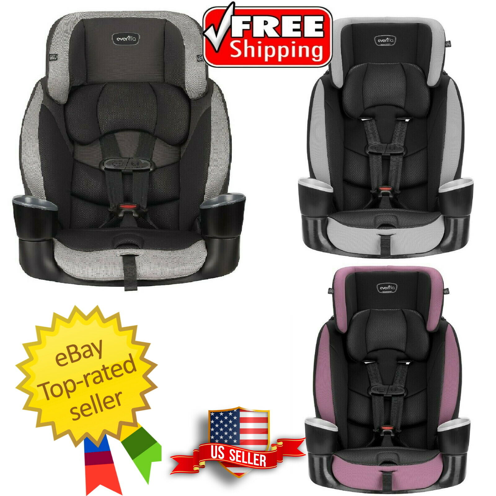 Evenflo Maestro Sport Harness Booster Car Seat - Choose Your