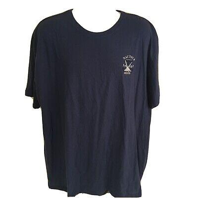 Nautica Mens T-Shirt 100% Cotton XXXL 3XL Blue French West Indies Regatta 1983