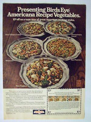 1976 Magazine Advertisement Ad Page Birds Eye Americana Recipe Vegetables Food