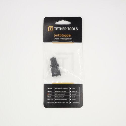 2X Tether Tools JerkStopper Cable Management Adapters RJ45 Black JS004  QDR08