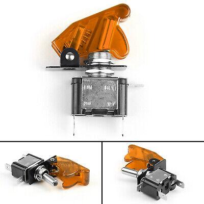 1x 12v 20a Orange Cover Led Light Rocker Toggle Switch Spst Onoff Truck Ua