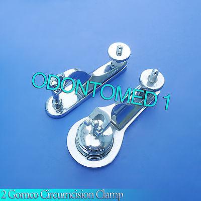 2 Pcs Gomco Circumcision Clamp 1.1cm 3.5cm Surgical Instruments