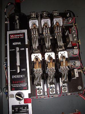 Zenith 225 Amp Auto Transfer Switch Zts22e-3elllpstu-vs W2