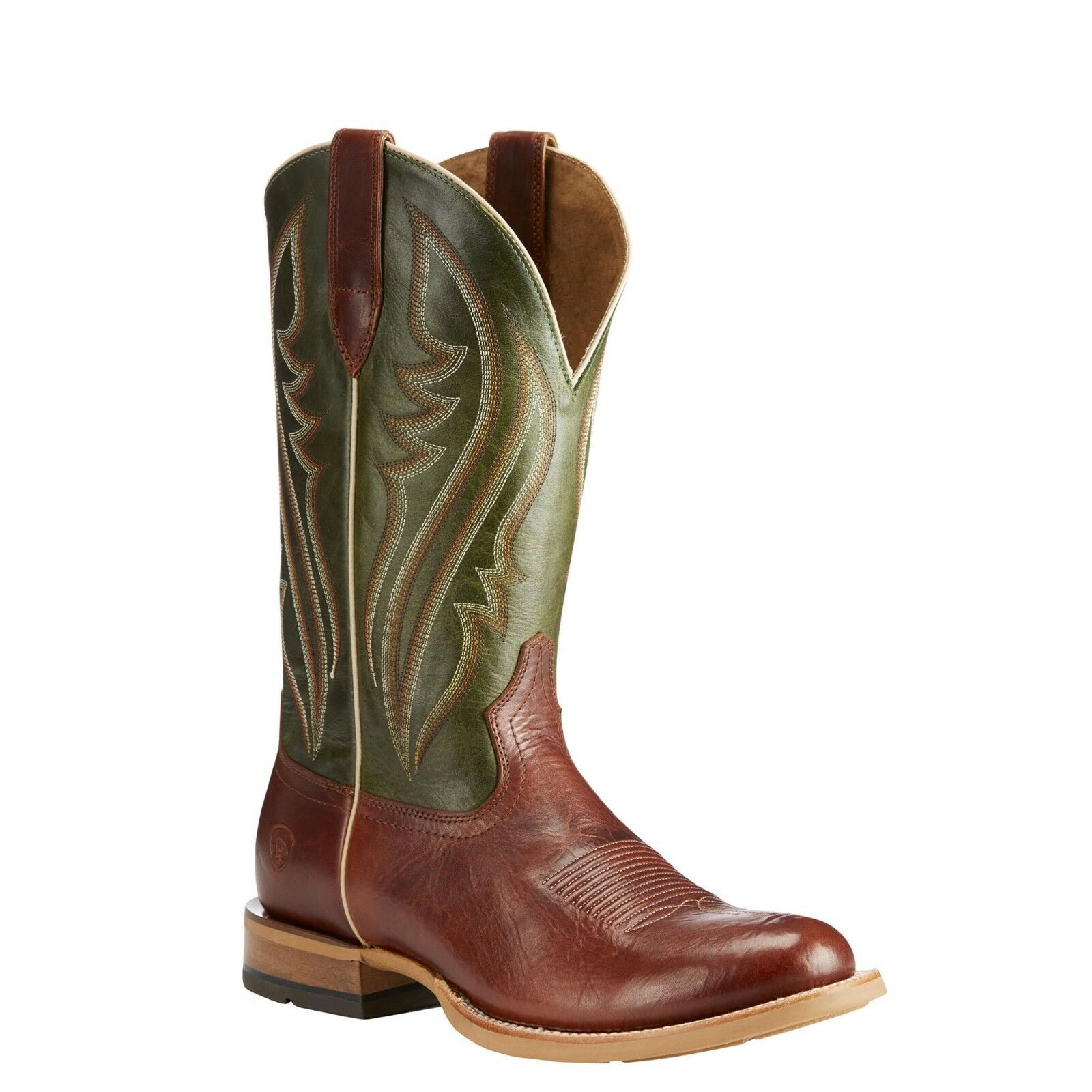 Ariat® Men's Match Up Cowboy Cognac & Neon Lime Green Boots