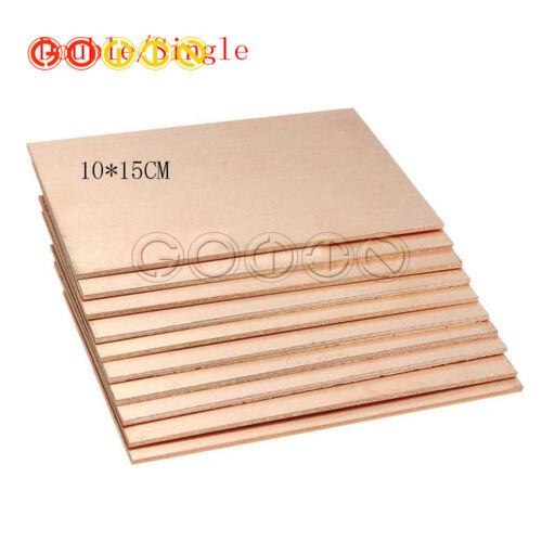 1//5 PCS 10CM*15CM*1.5MM Thickness Double PCB Copper Clad Laminate Board