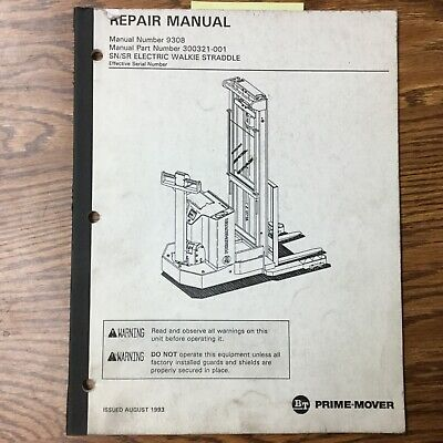 Bt Prime Mover Snsr Walkie Straddle Service Shop Repair Manual Fork Lift Truck