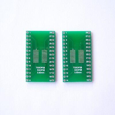 10 Pcs So Sop Ssop Tssop Soic28 Pin To Dip Pcb Board Adapter Converter Diy B05