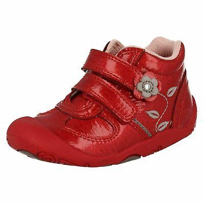 Kleinkind Mädchen Startrite Go Erste Stiefel Patent Rot