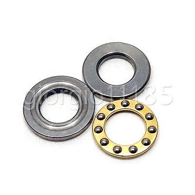 Us Stock 10pcs F12-23m Axial Ball Thrust Bearing 3-parts 12mm X 23mm X 7.5mm