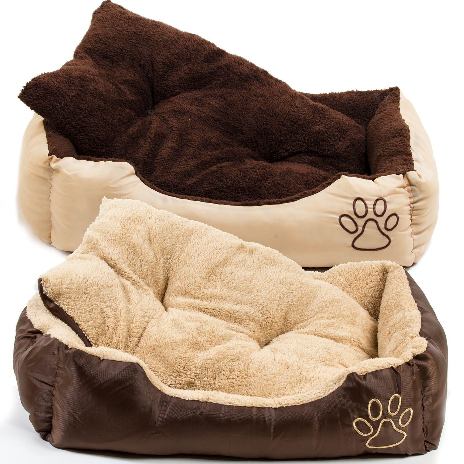 hundebett mit kissen hunde korb hundesofa k rbchen katzen. Black Bedroom Furniture Sets. Home Design Ideas