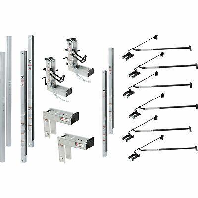 Qual-craft Aluminum Pump Jack Scaffolding System Starter Kit- 36ft 3016