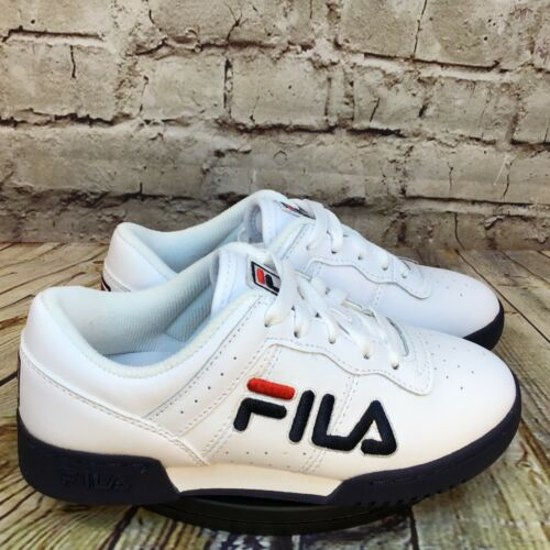 Fila Kids White Low Tennis Shoes Sneakers Size 3 Youth