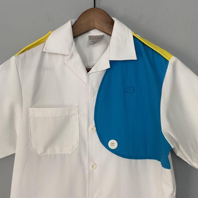Retired Disney Parks Cast Member Uniform CUSTODIAL Shirt Mens 2XS