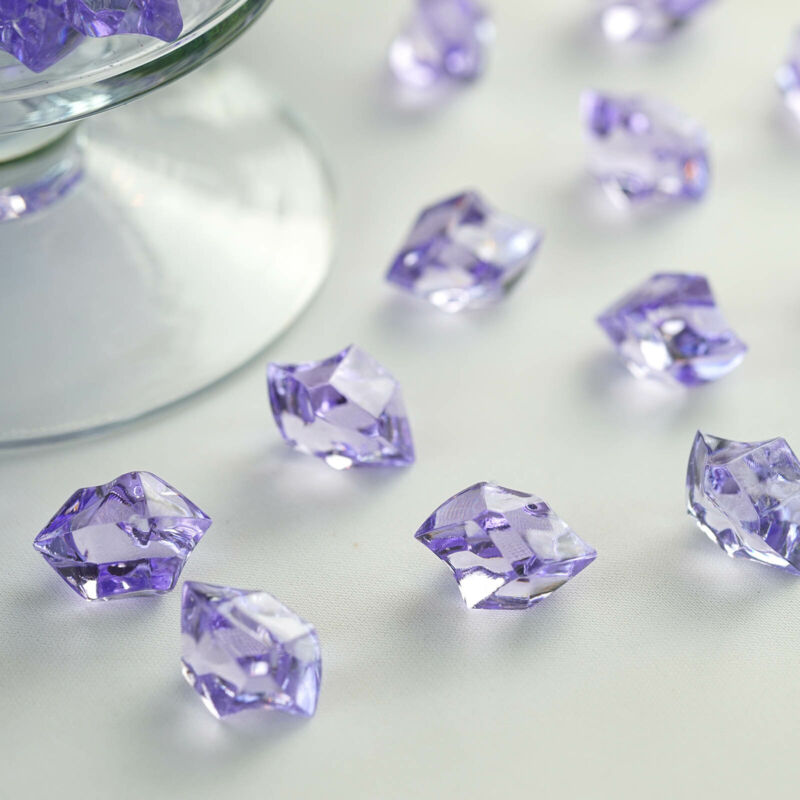 300 Lavender Crystal Like ICE CUBES Wedding Party Tabletop CENTERPIECES Filler