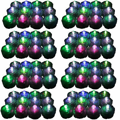 96 COLOR CHANGING LED Submersible Waterproof Wedding Floral Decoration Tea Light