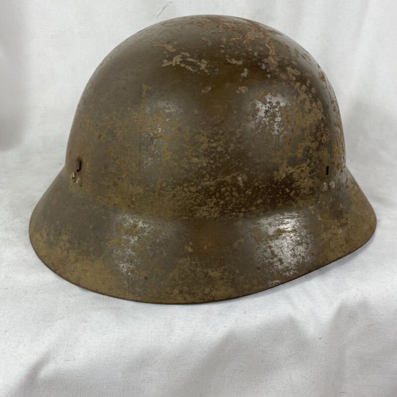 Original Wwii Japanese Helmet Shell Defense W/ Writing Named?