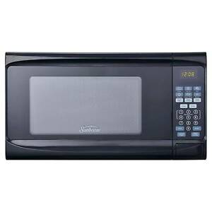 Sunbeam 0 7 Cu Ft Digital Microwave Oven Black