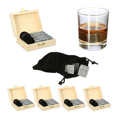 45 x Whisky Steine Speckstein Kühlwürfel Kühlsteine wiederverwendbare