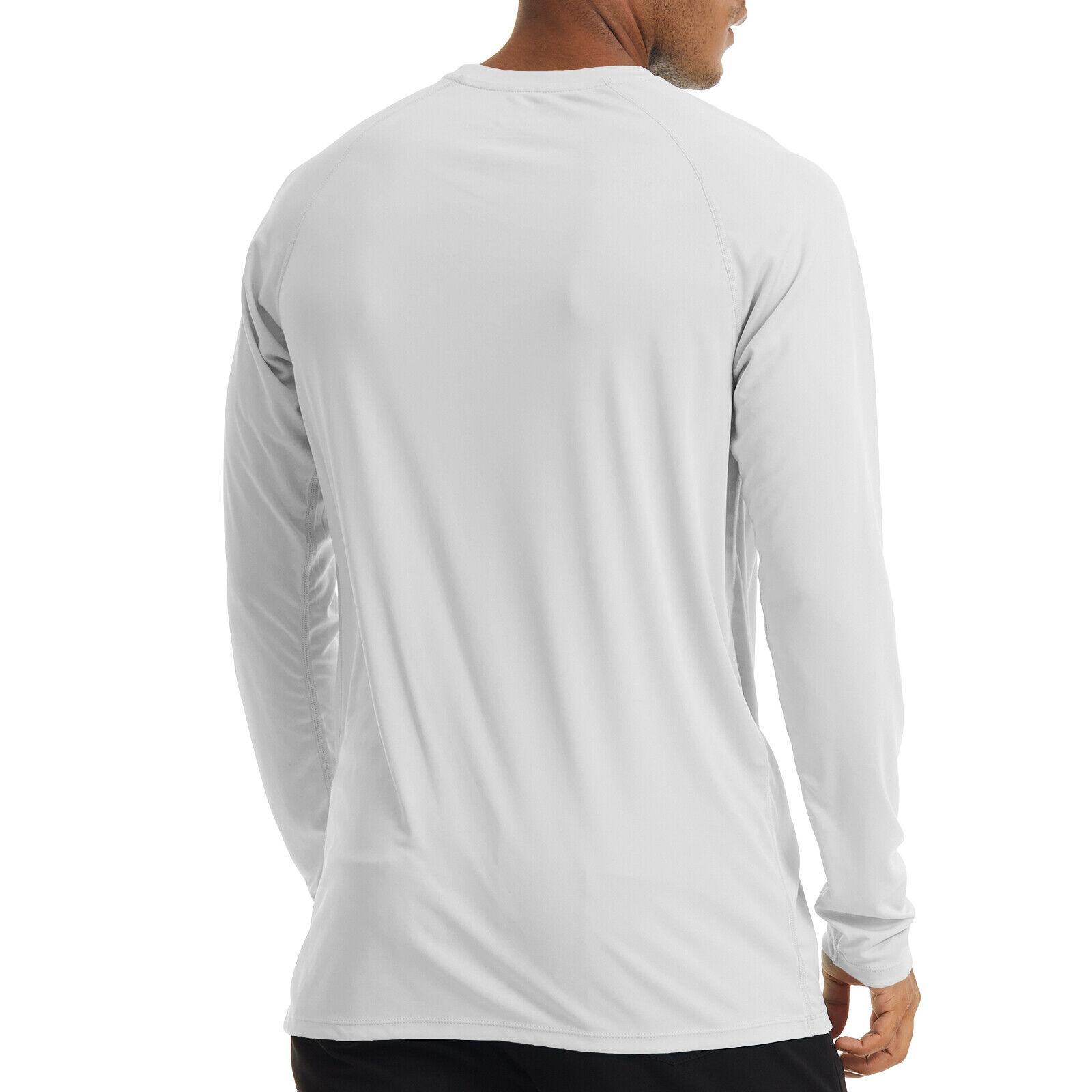 Men's UPF 50+ UV Protection Long Sleeve T-Shirt Sun Block Casual Fishing Shirts 1