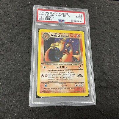 DARK CHARIZARD 1st Edition Holo 4/82 PSA 9 MINT Rare 2000 Pokemon Rocket Set