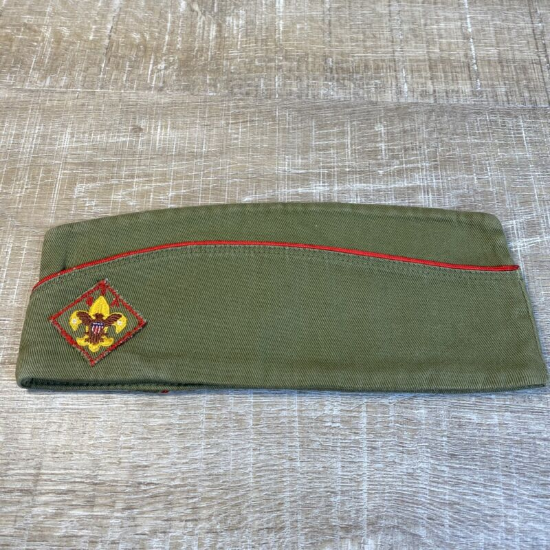 Vintage 1960s Boy Scouts Of America BSA Garrison HAT CAP ~ Size Medium