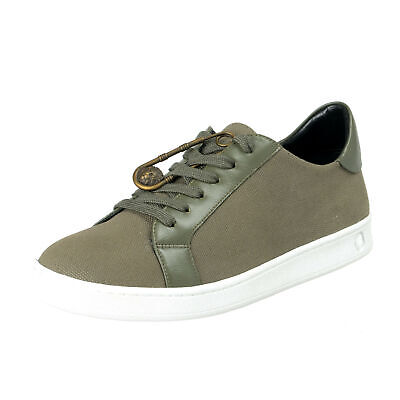 Versace Versus Men's Green Canvas Leather Fashion Sneakers Shoes Sz 7 8 9 11