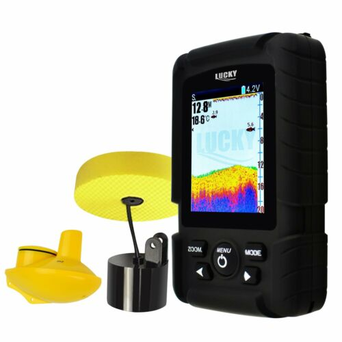 2-in-1 LUCKY Fishfinder Wireless/ 6M Wired Sensor English/Ru