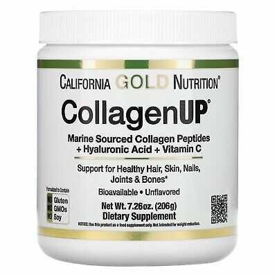 California Gold Nutrition, Collagen UP, Unflavored, 7.26 oz, Marine Sourced