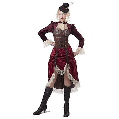 Adult Women's Vintage Style Victorian Steampunk Halloween Costume Dress S M L XL - Victorian Style Dresses Halloween