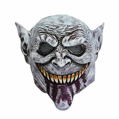Herren Scary Goblin Maske Blutig Zunge Halloween Kostüm Stütze (Goblin Halloween Kostüm)