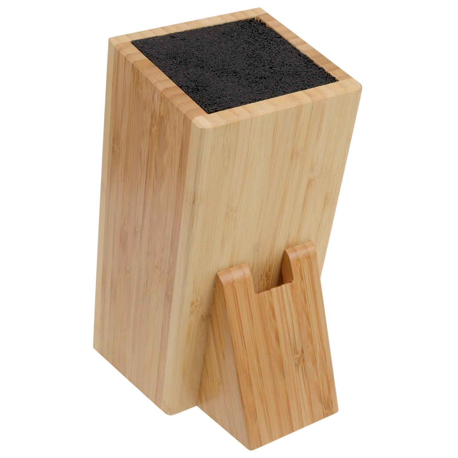gr we messerblock bambus universal mit borsten leer ohne messer unbest ckt ebay. Black Bedroom Furniture Sets. Home Design Ideas